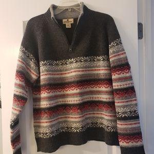 Woolrich 100% Lamb's wool 1/4 zip sweater XL